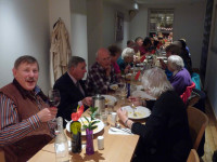 Enjoying the Annual Dinner in Dorking after the AGM.