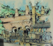 Drawing of Brockham Lime Works in 1929.